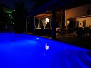 CasaTortuga Pool at Night