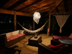 CasaTortuga Terrace-at-Night